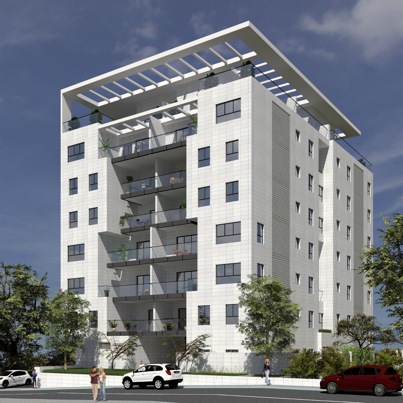 בניין בוטיק במרכז הרצליה קרדיט הדמיות - גונן ציאנדר משרד אדריכלים - תימור שוורץ